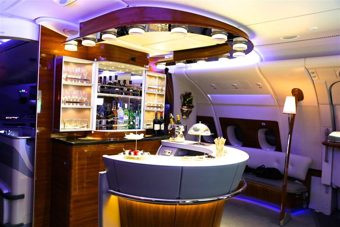 Miss Everywhere Emirates first class